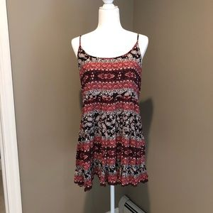 Red and black paisley summer dress!!